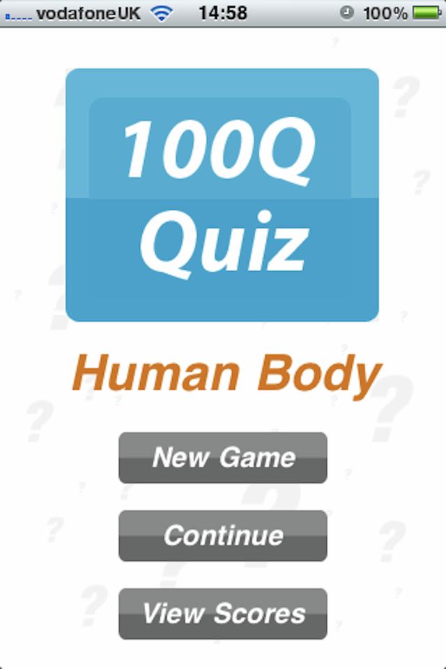 Screenshot Human Body – 100Q Quiz